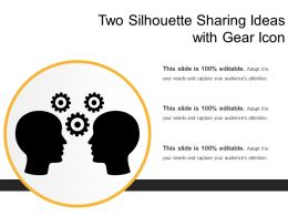 Two Silhouette Sharing Ideas With Gear Icons