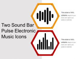 Two Sound Bar Pulse Electronic Music Icons