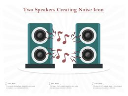 Two Speakers Creating Noise Icon