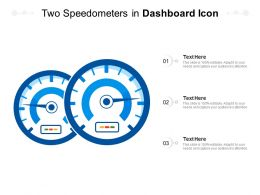 Two Speedometers In Dashboard Icon