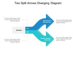 Two Split Arrows Diverging Diagram