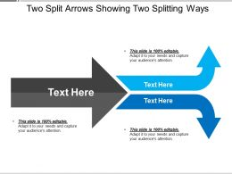 Two Split Arrows Showing Two Splitting Ways