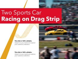 Two Sports Car Racing On Drag Strip