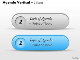 Two Staged Agenda Vertical Diagram 0214