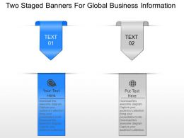 Two Staged Banners For Global Business Information Powerpoint Template Slide