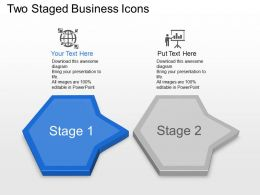 Two Staged Business Icons Powerpoint Template Slide