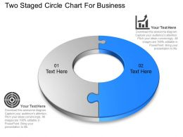 Two Staged Circle Chart For Business Powerpoint Template Slide