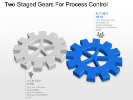 Two Staged Gears For Process Control Powerpoint Template Slide