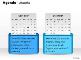 Two Staged Monthly Agenda Diagram 0214