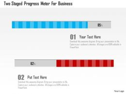 Two Staged Progress Meter For Business Flat Powerpoint Design