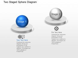 Two Staged Sphere Diagram Powerpoint Template Slide