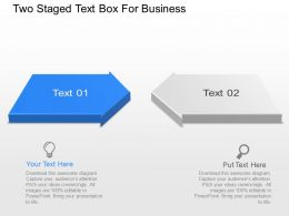Two Staged Text Box For Business Powerpoint Template Slide