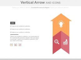 Two Staged Vertical Arrow And Icons Flat Powerpoint Design