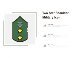 Two Star Shoulder Military Icon