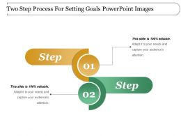 Two Step Process For Setting Goals Powerpoint Images