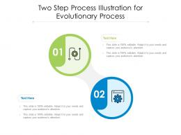 Two Step Process Illustration For Evolutionary Process Infographic Template