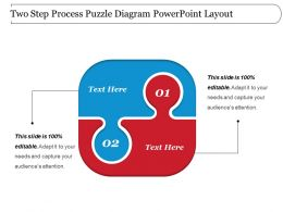 Two Step Process Puzzle Diagram Powerpoint Layout
