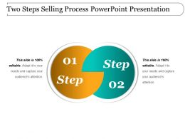 Two Steps Selling Process Powerpoint Presentation