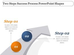 Two Steps Success Process Powerpoint Shapes