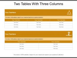 Two Tables With Three Columns