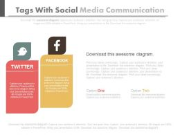 Two Tags With Social Media Communication Flat Powerpoint Design