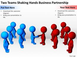 two_teams_shaking_hands_business_partnership_ppt_graphics_icons_powerpoint_Slide01