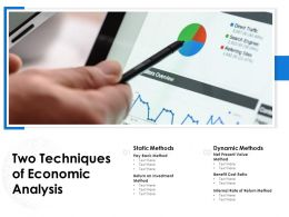 Two Techniques Of Economic Analysis