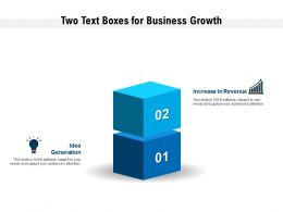 Two Text Boxes For Business Growth