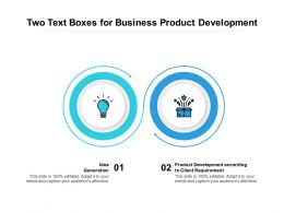 Two Text Boxes For Business Product Development
