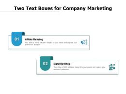 Two Text Boxes For Company Marketing