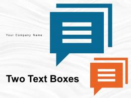 Two Text Boxes Rectangular Business Promotion Horizontal Development Strategies Product