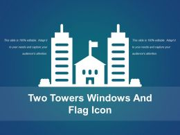 Two Towers Windows And Flag Icon