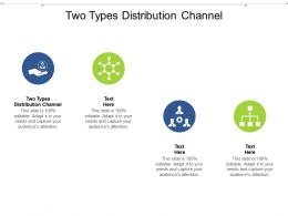 Two Types Distribution Channel Ppt Powerpoint Presentation Styles Files Cpb