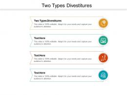 Two Types Divestitures Ppt Powerpoint Presentation Infographic Template Layout Ideas Cpb