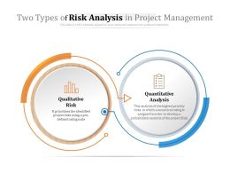 Two Types Of Risk Analysis In Project Management