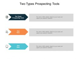 Two Types Prospecting Tools Ppt Powerpoint Presentation Infographics Files Cpb