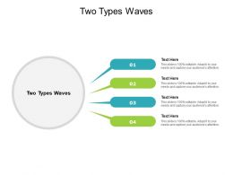 Two Types Waves Ppt Powerpoint Presentation Ideas Grid Cpb