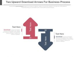 Two Upward Downward Arrows For Business Process Powerpoint Slides