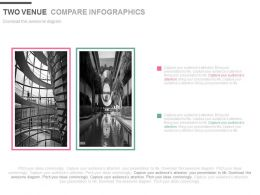 Two Venue Compare Infographics Powerpoint Slides