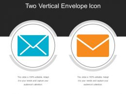 Two Vertical Envelope Icon
