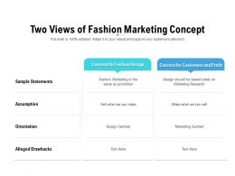Two Views Of Fashion Marketing Concept