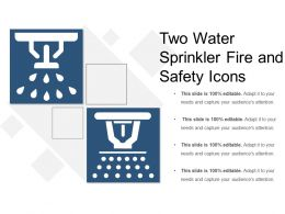 Two Water Sprinkler Fire And Safety Icons