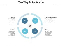 Two Way Authentication Ppt Powerpoint Presentation Gallery Graphics Pictures Cpb
