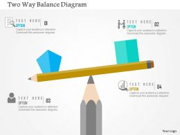 Two Way Balance Diagram Flat Powerpoint Design