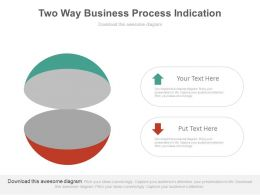 Two Way Business Process Indication Powerpoint Slides