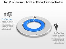 Two Way Circular Chart For Global Financial Matters Powerpoint Template Slide