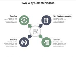 Two Way Communication Ppt Powerpoint Presentation Layouts Graphics Pictures Cpb