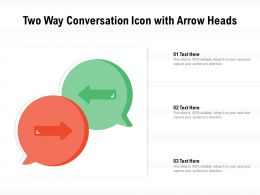 Two Way Conversation Icon With Arrow Heads