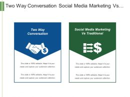 Two Way Conversation Social Media Marketing Vs Traditional