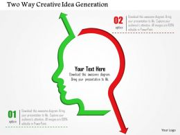 Two Way Creative Idea Generation Powerpoint Template